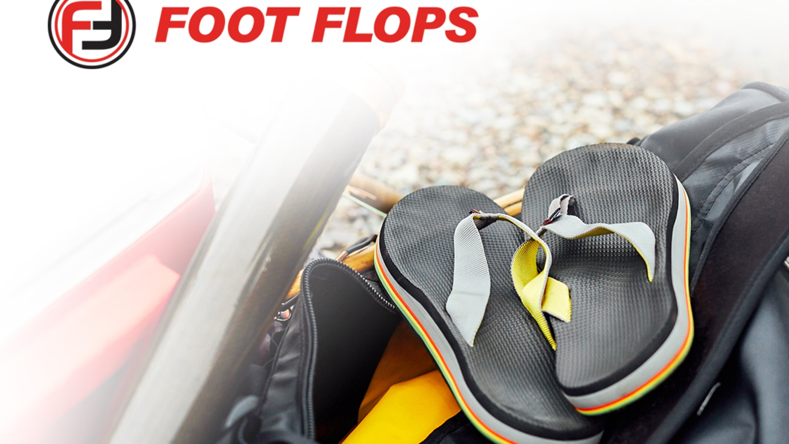 Foot Flops: Heat moldable flip flops formed to fit your feet