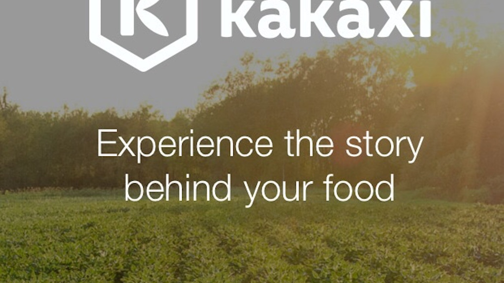 Kakaxi: Experience the story behind your food. project video thumbnail
