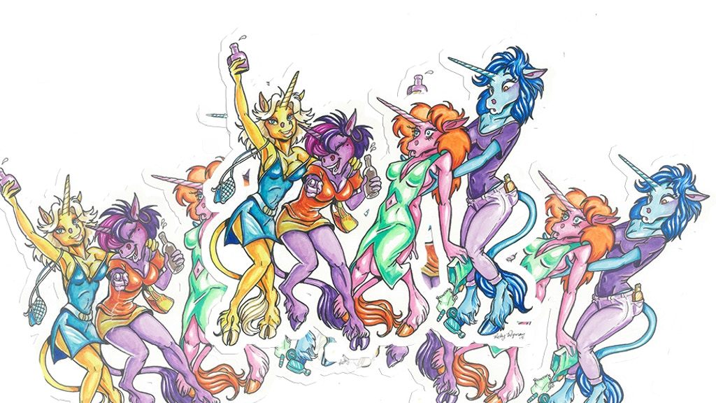 Project image for Intoxicated Unicorns Vinyl Stickers (Canceled)