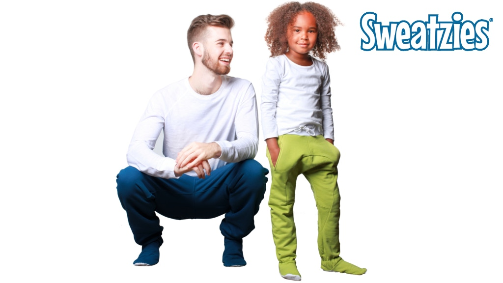 Meet The Sweatzies: The Original Sweatpants with Footies