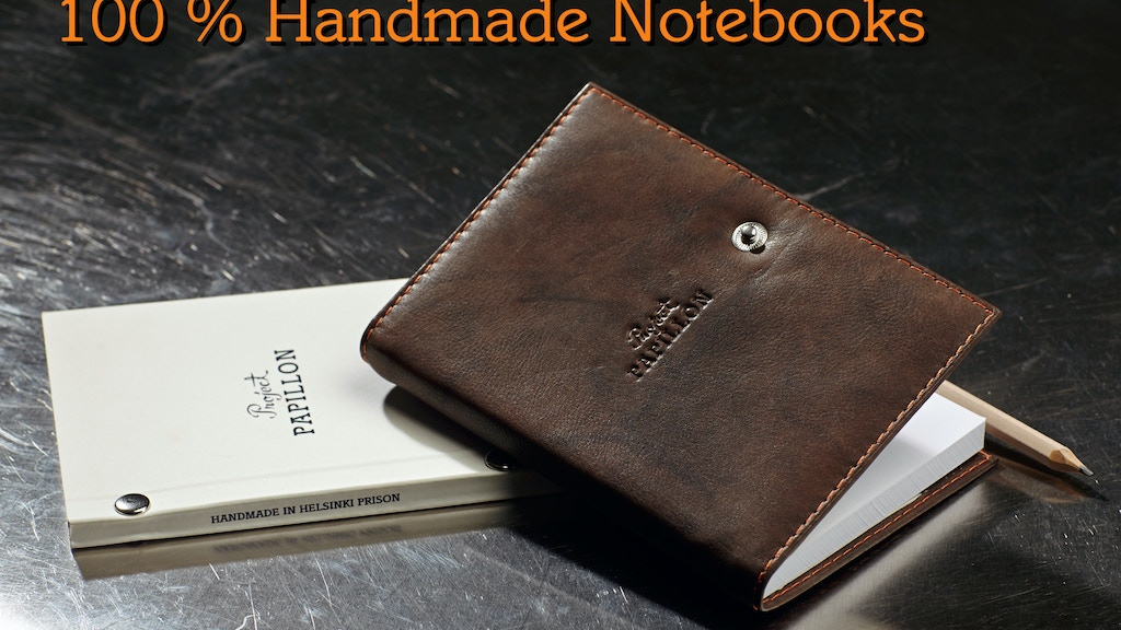 Handmade Notebooks -Vintage Craftsmanship From Prison project video thumbnail