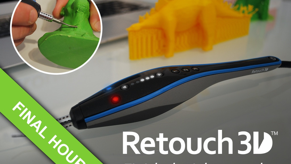Retouch3D: A brand new way to finish 3D prints. project video thumbnail