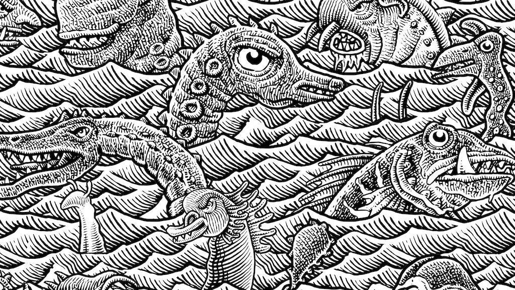 Sea Monster Jamboree Print project video thumbnail