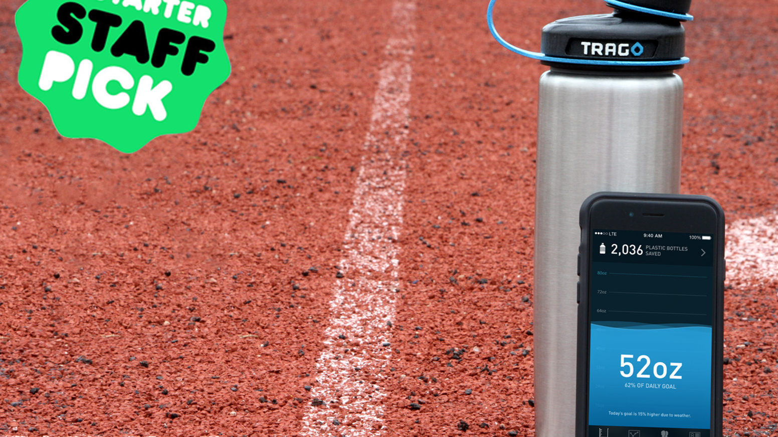 Trago is the world's first connected smart water bottle. Intelligent, accurate, and versatile.