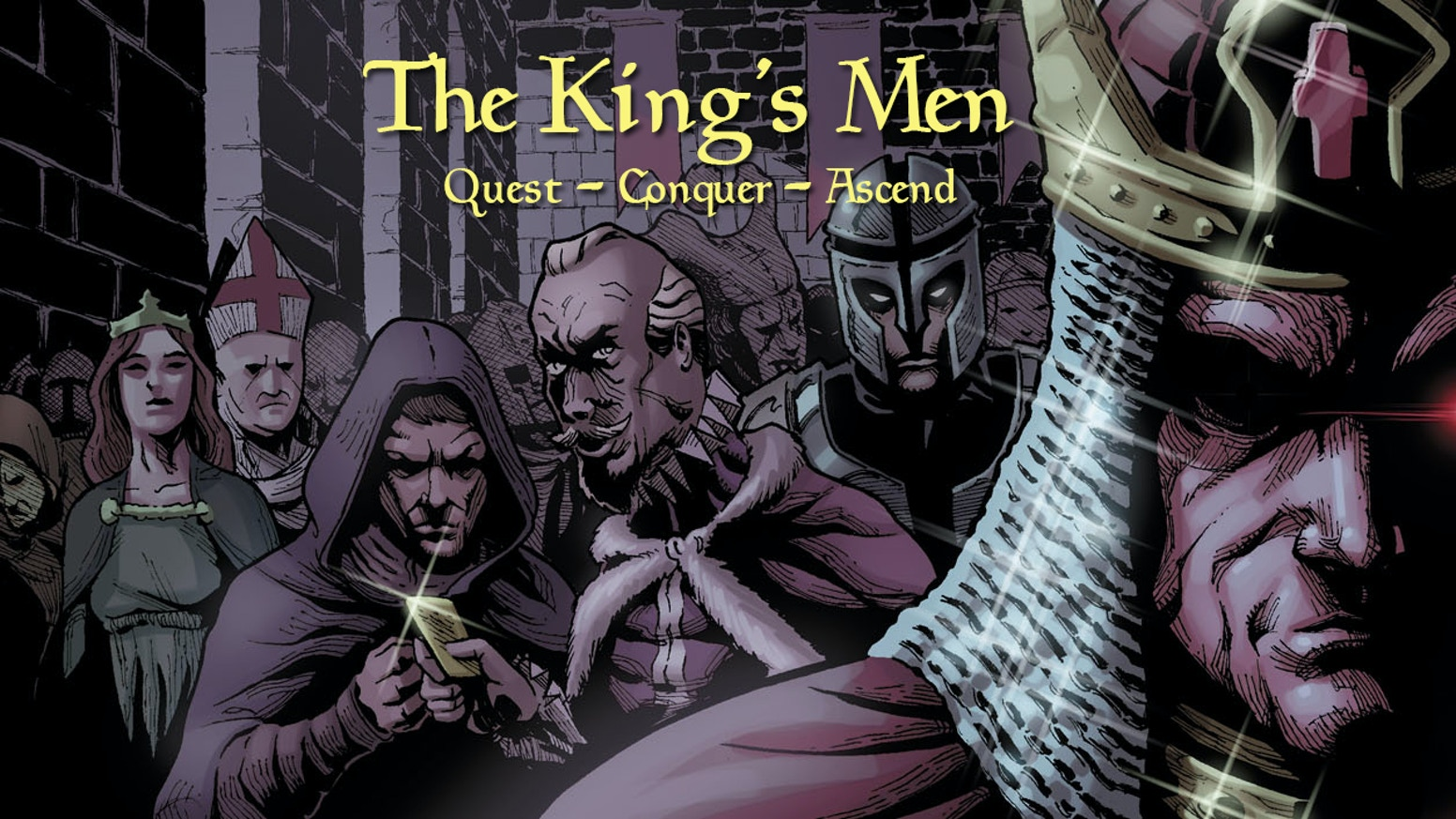 Fight mythological creatures. Gain honor. Recruit powerful allies. Build a thriving merchant class. Ascend to the throne! The Kingsmen!