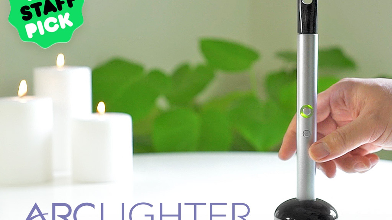 Introducing the world's first flameless, electronic, rechargeable candle lighter powered by our patent pending ArcLighter Technology.