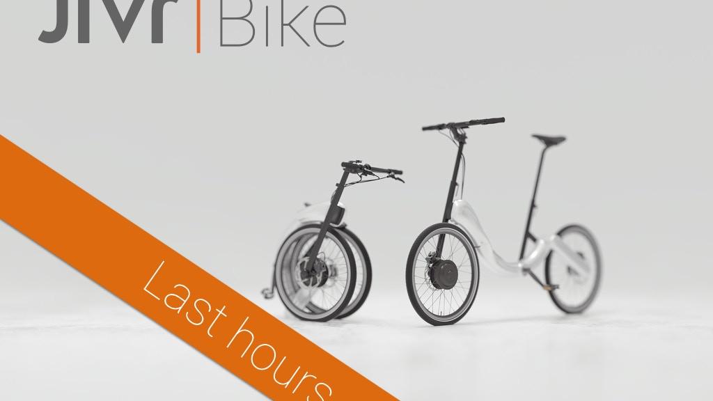 JIVR | Bike. Chainless, folding, beacon-enabled e-bike. project video thumbnail