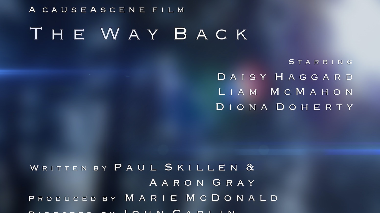 An ambitious high concept, low budget sci-fi short. Time travel, regret and loss in equal parts. Experienced, talented cast and crew.
