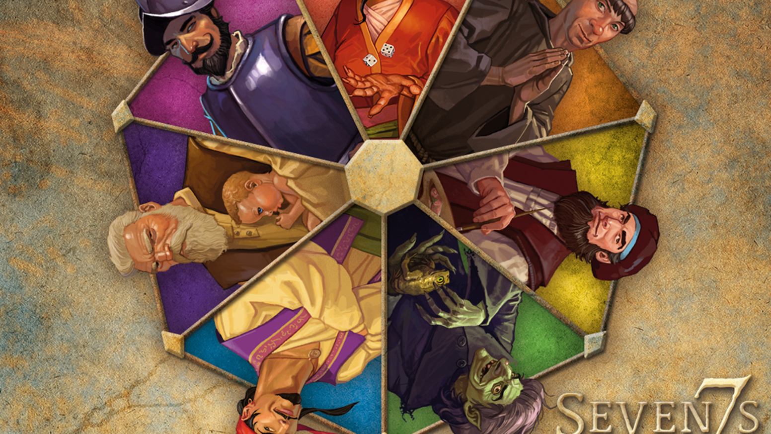 Seven7s allows players to wield the powers of 7 of the most famous 7's in history in a quick, fun, new card game by Jason Tagmire .