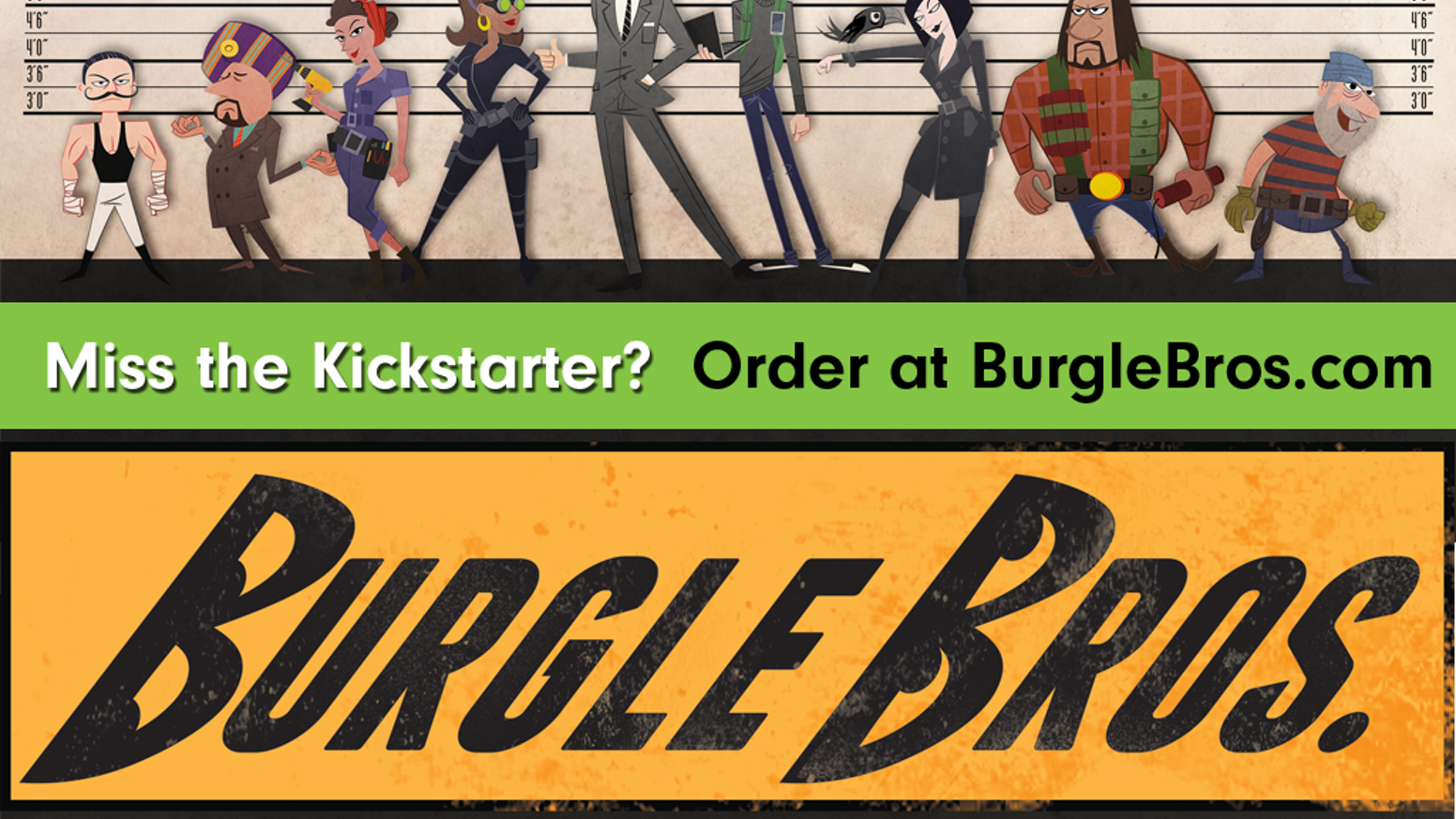Burgle Bros is a cooperative heist boardgame where players use unique powers to avoid guards, navigate alarms and get out!