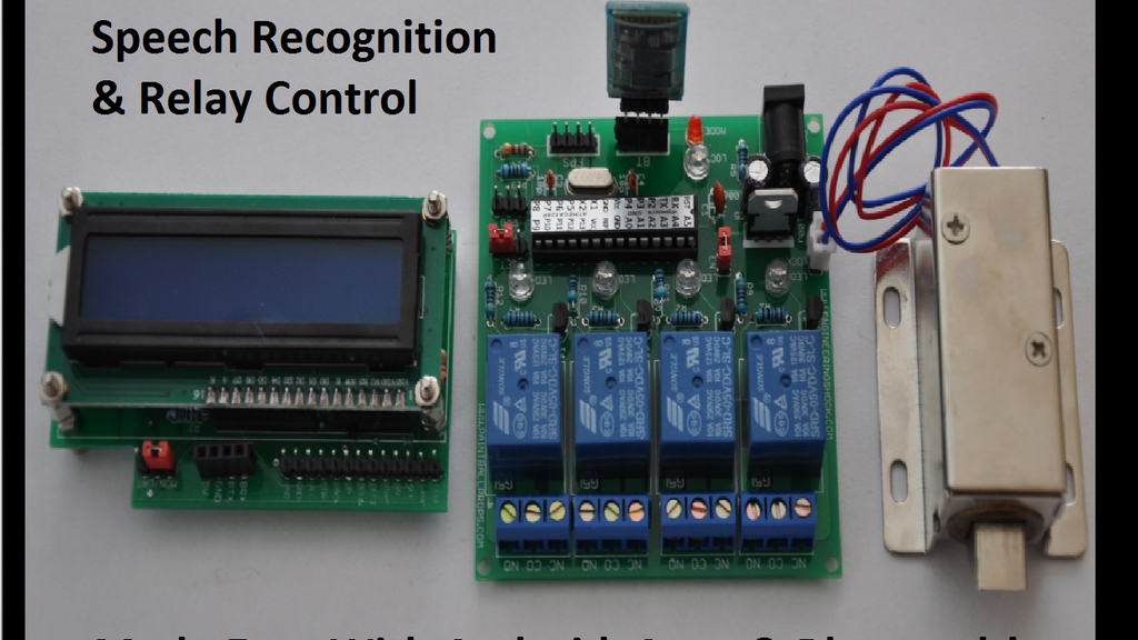 Bluetooth Speech Recognition & Relay Board Modules! project video thumbnail