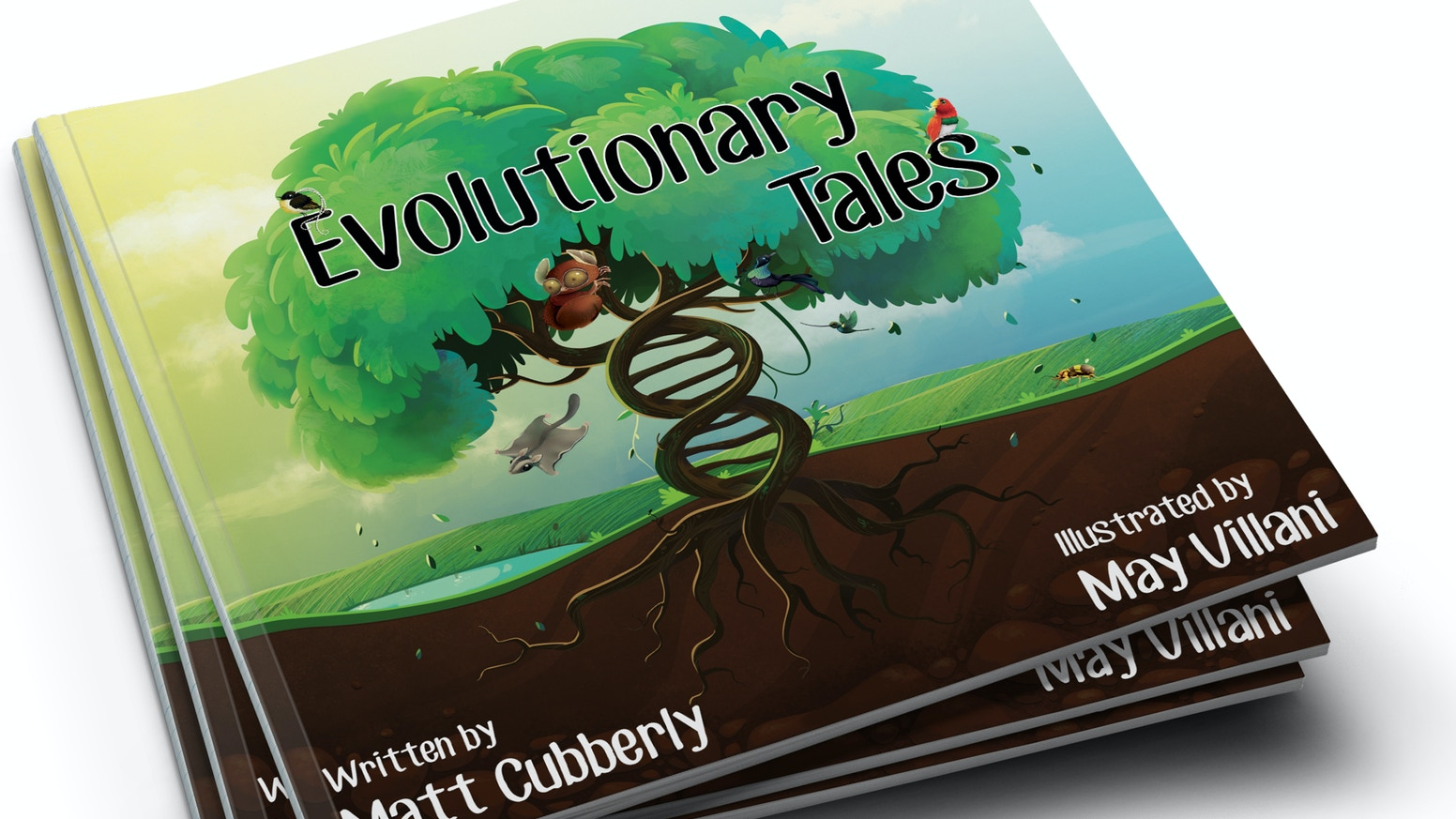 Evolutionary Tales is a children's book that teaches evolution through 10 poems focusing on the wildest-evolved creatures of our world!