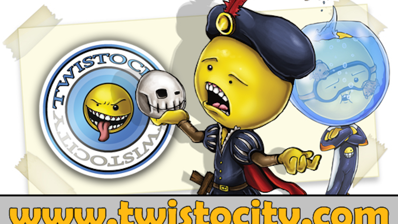 Twistocity is a card game where players combine ridiculous voices with tongue twisters while secretly improving your speech.