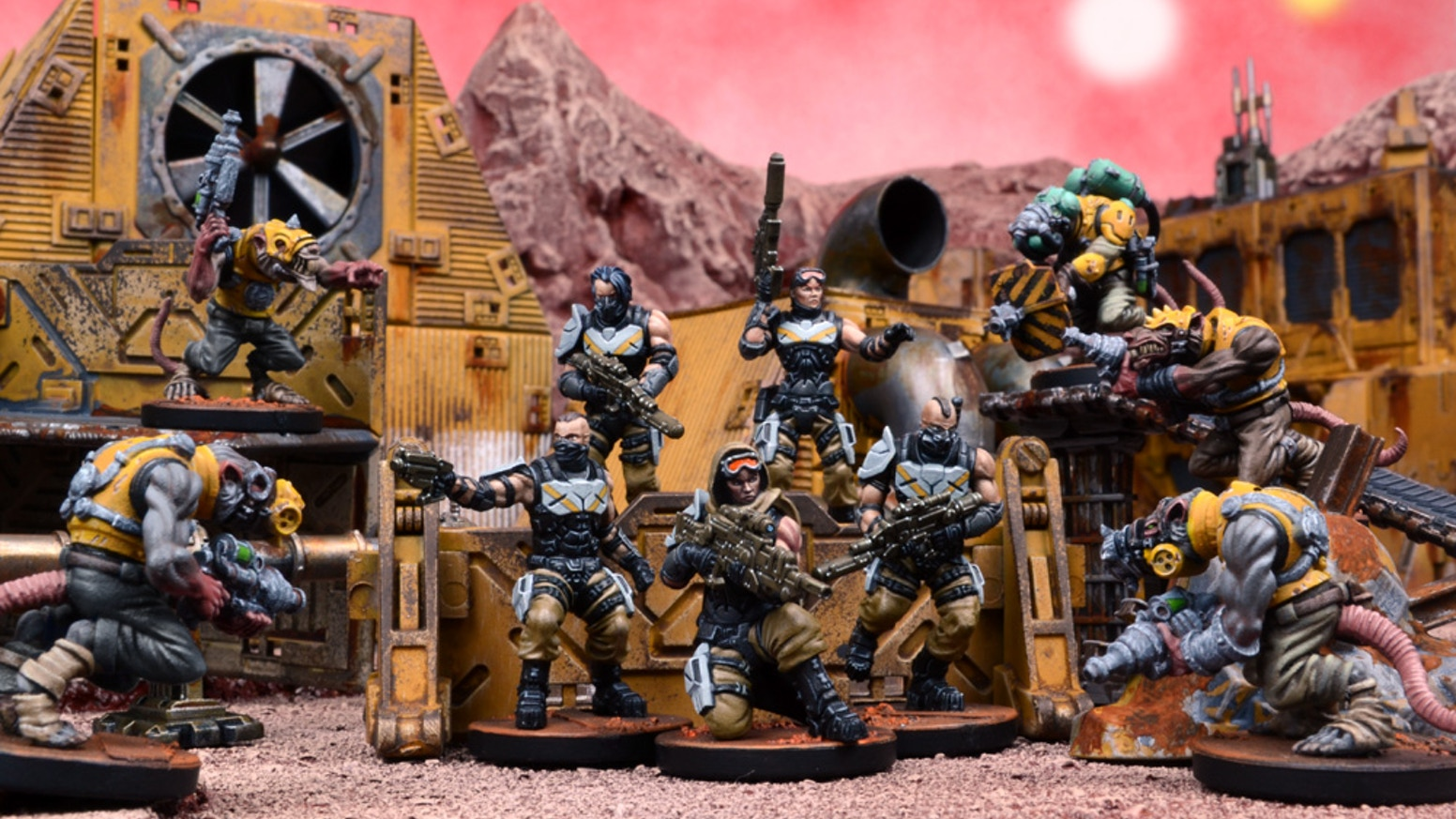 Deadzone is the science fiction miniatures skirmish game where two Strike Teams battle in a wartorn urban battlezone!