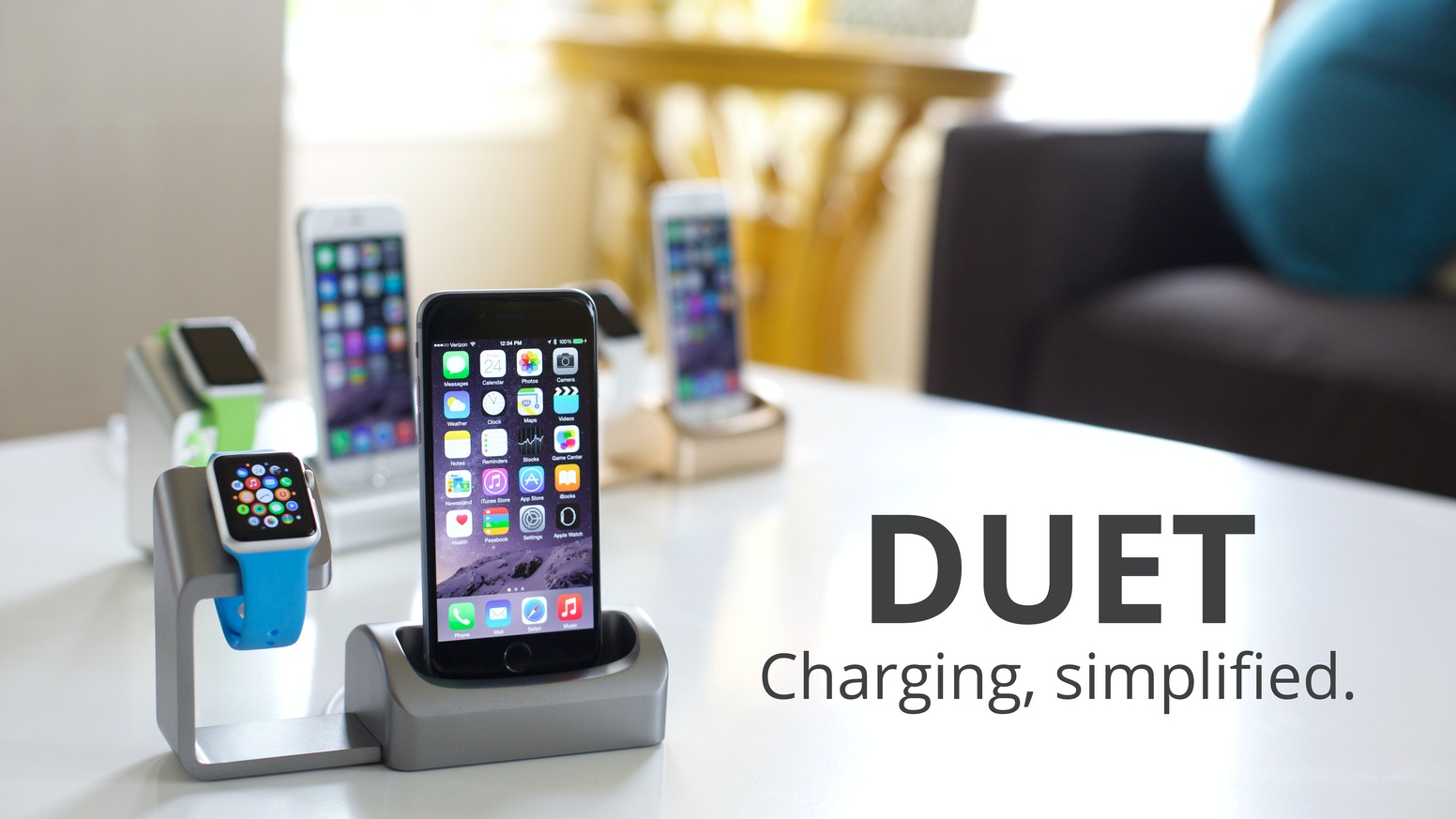 An elegant charging solution bringing iPhone and Apple Watch together in perfect harmony.