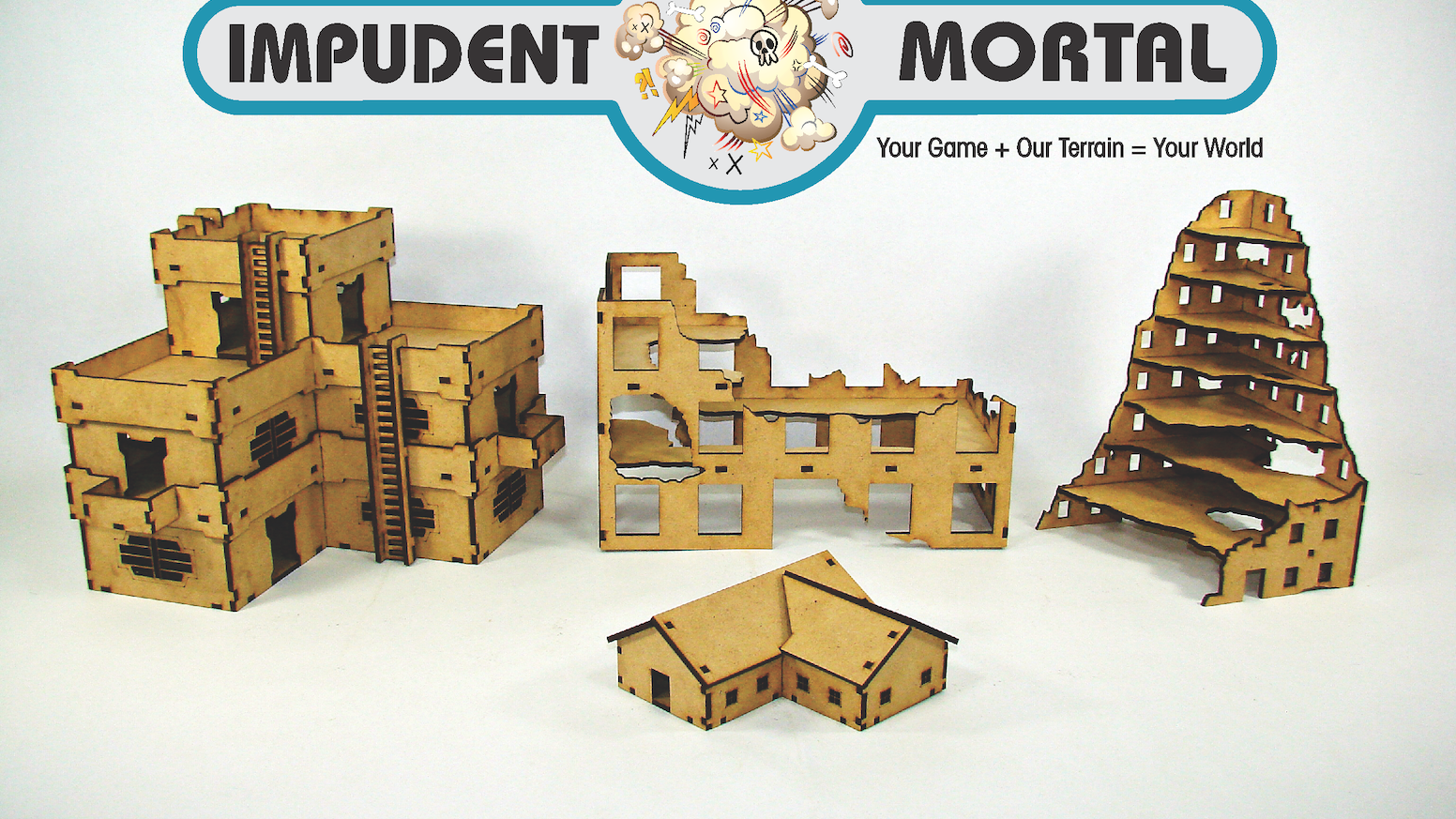 Impudent Mortal is offering an inexpensive, easy to assemble line of terrain for both 15mm and 28mm table top miniature games.