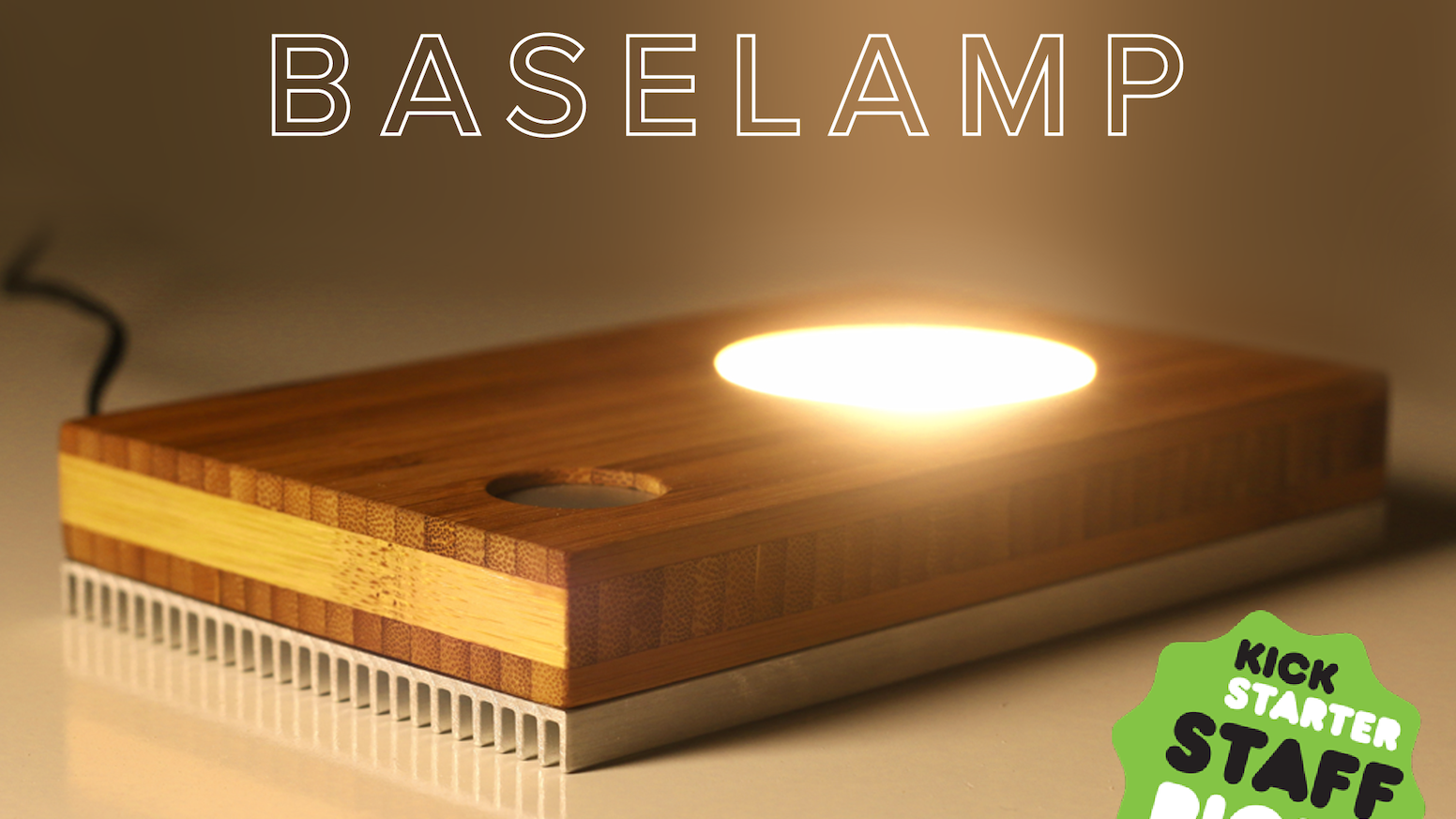 A dimmable LED light designed to turn almost anything into a lamp – handmade in New York and built to work anywhere in the world.