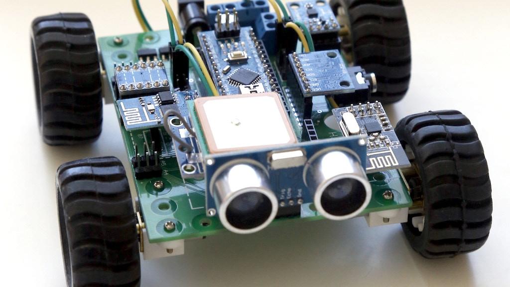Hackabot Nano: Compact Plug and Play Arduino Robot project video thumbnail