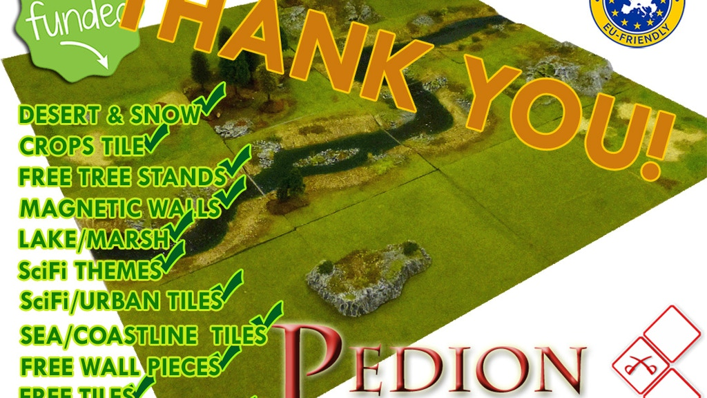 PEDION Modular Prepainted Terrain System for RPGs & Wargames project video thumbnail