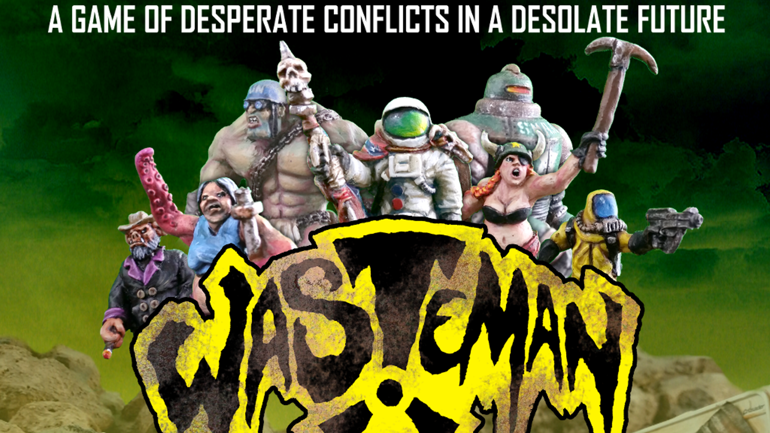 Prepare yourself for the bizarre as you venture deep into a world of radioactive insanity with this tabletop miniature game!