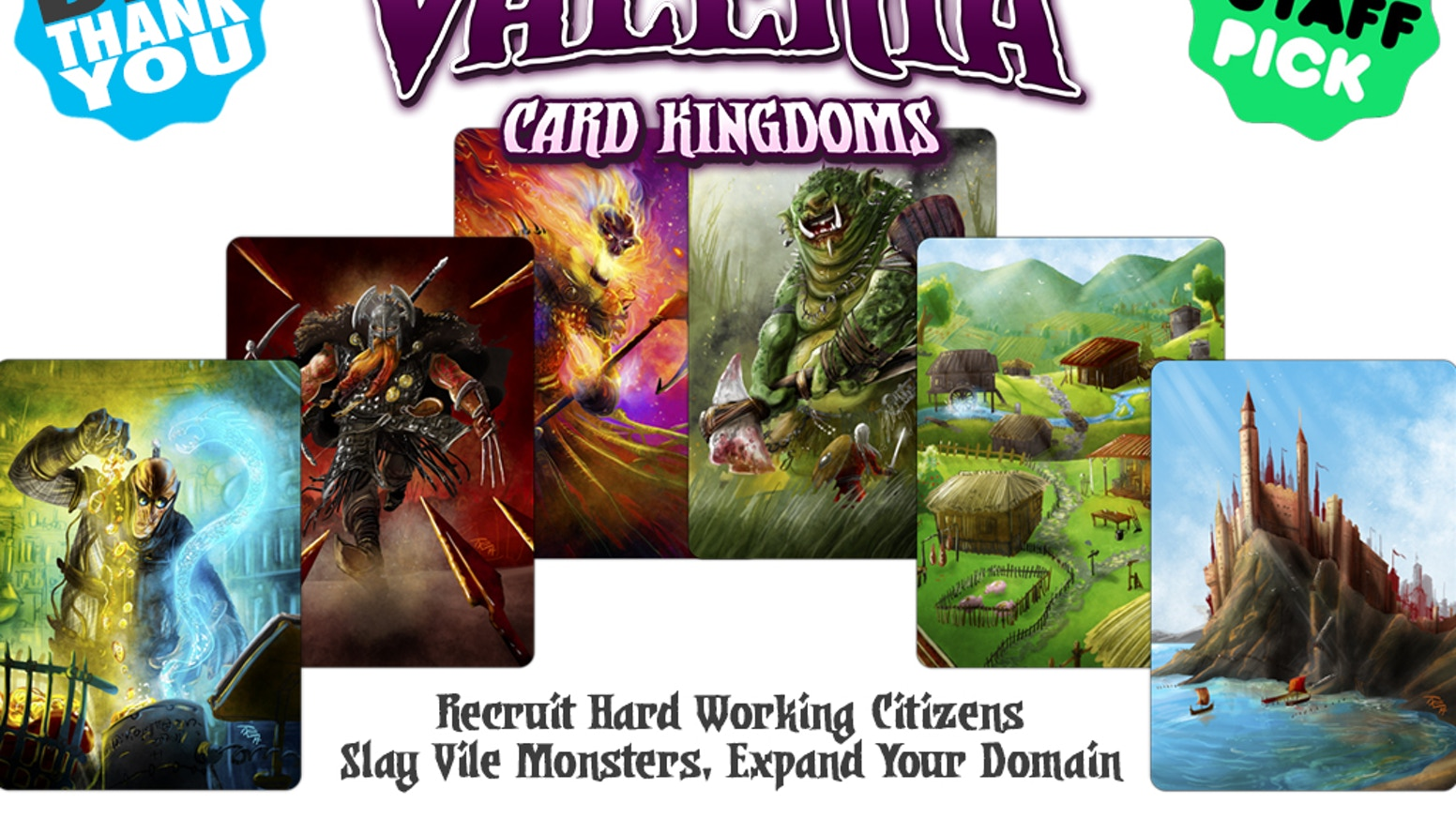 Recruit hard working citizens, slay vile monsters, expand your domain. Roll the dice and become ruler of Valeria!