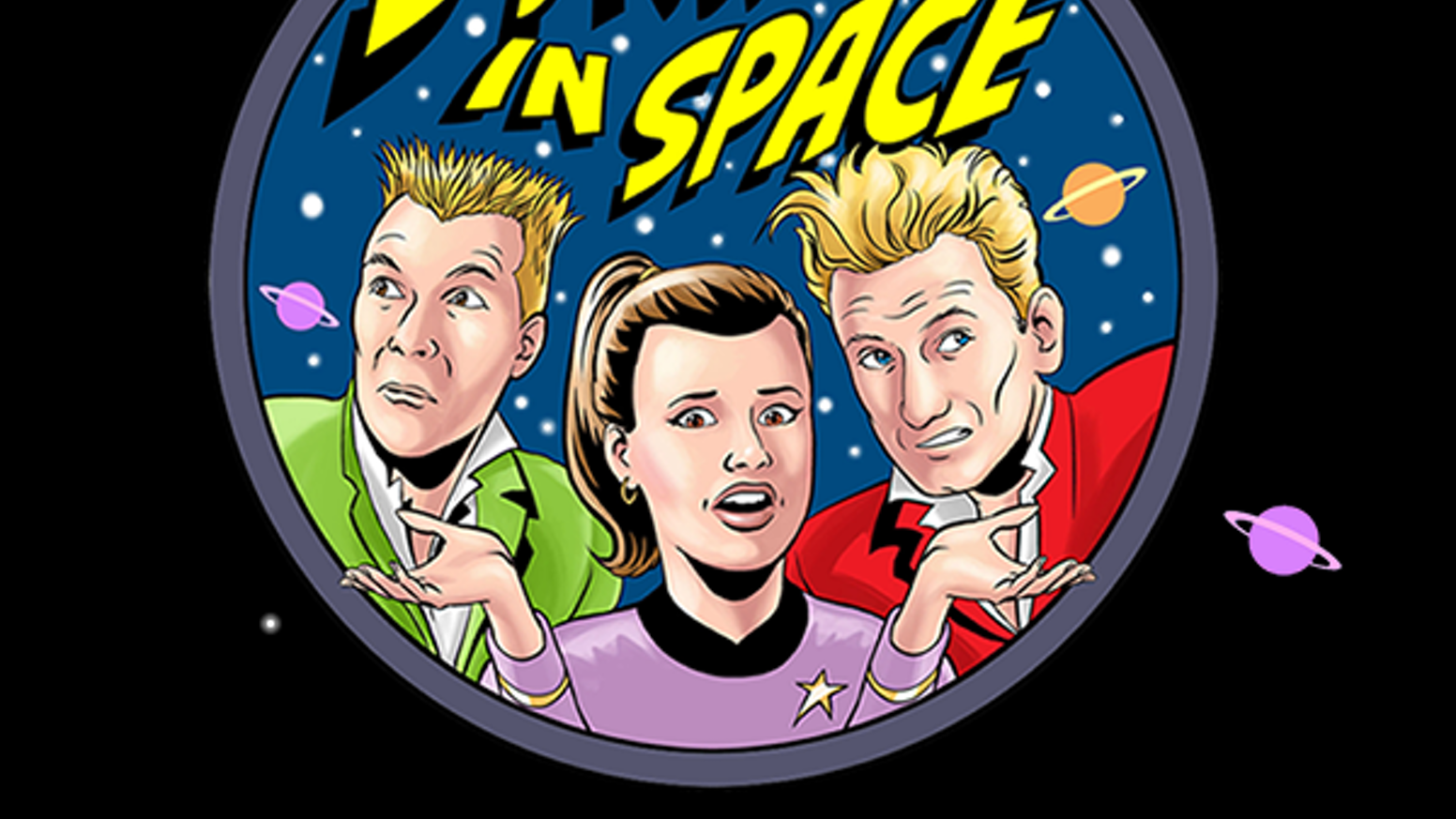Comedy Sci-Fi audio from Trev & Simon, Sophie Aldred & Clare Eden with Rufus Hound,Doon Mackichan & Barnaby Edwards. For kids aged 8 to 80...