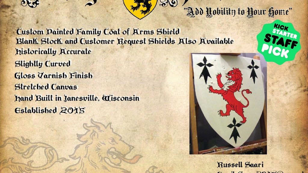 Project image for Tredegar Shields (Coat of Arms Paintings for the Home)