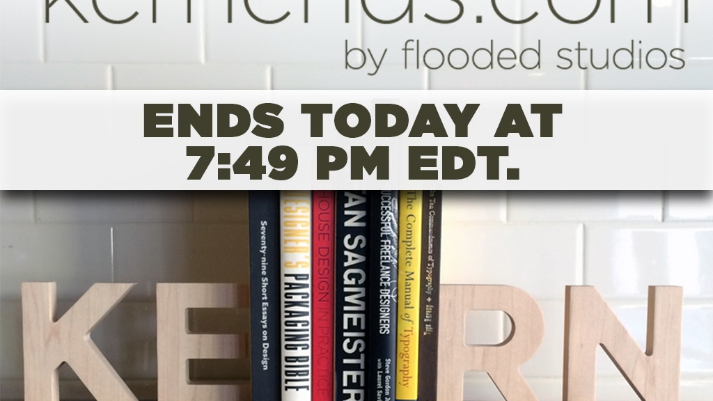 KernEnds - Typography bookends with style project video thumbnail