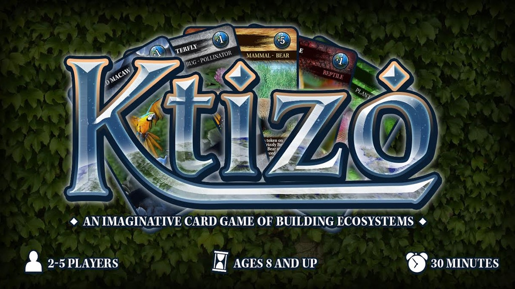 Ktizo - An ecosystem building card game project video thumbnail