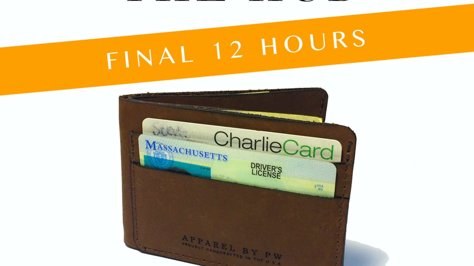 A slim American Made wallet with easy access to your cards and a cash slot that actually works.
