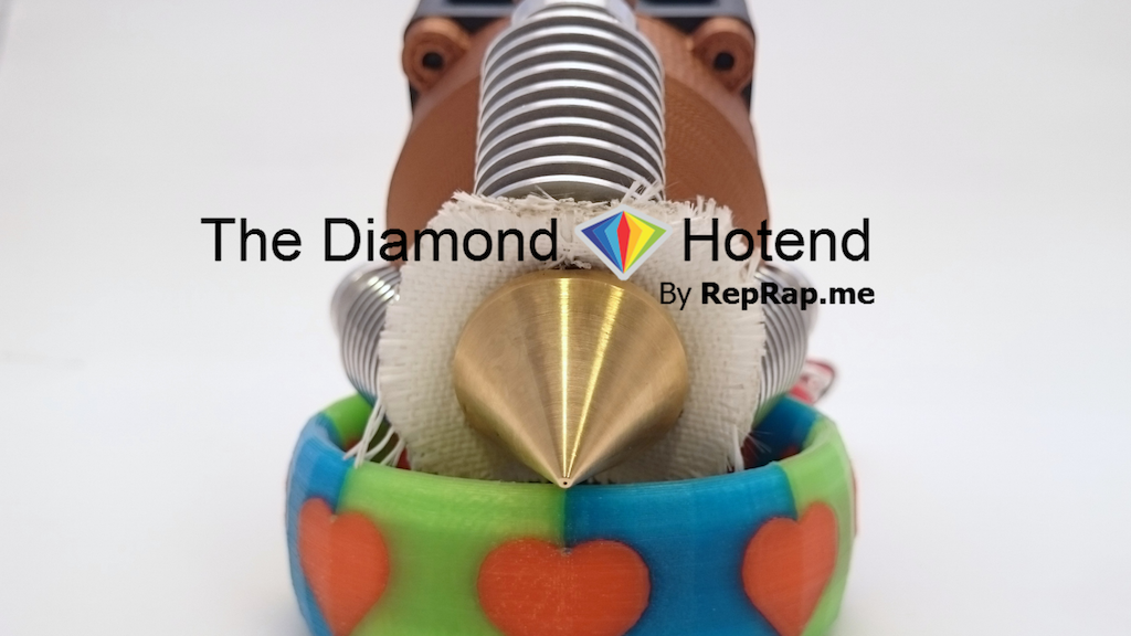 The Diamond Hotend - Single nozzle multi-color 3D printing project video thumbnail