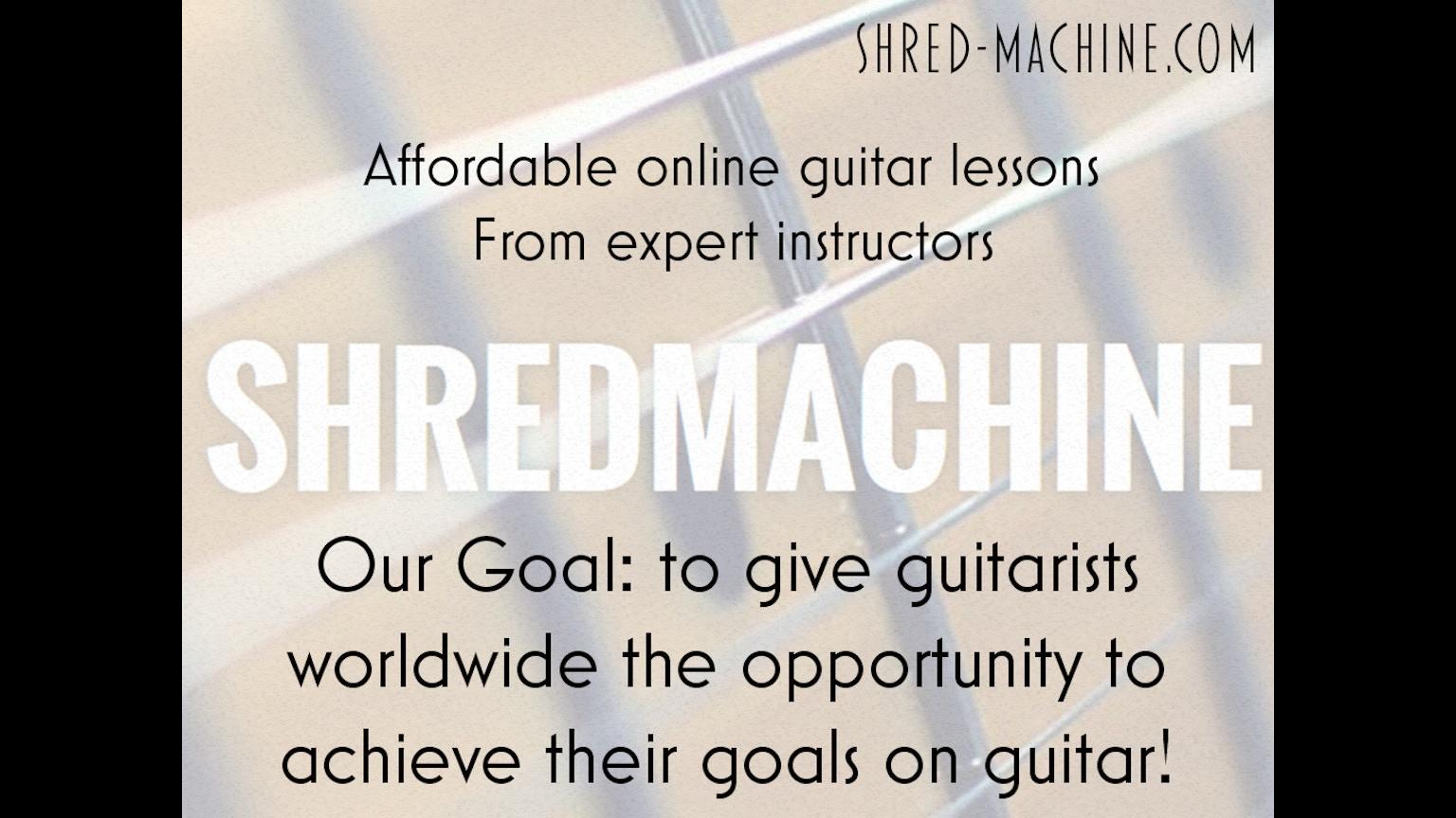 shred machine affordable guitar education going global by shred machine kickstarter. Black Bedroom Furniture Sets. Home Design Ideas