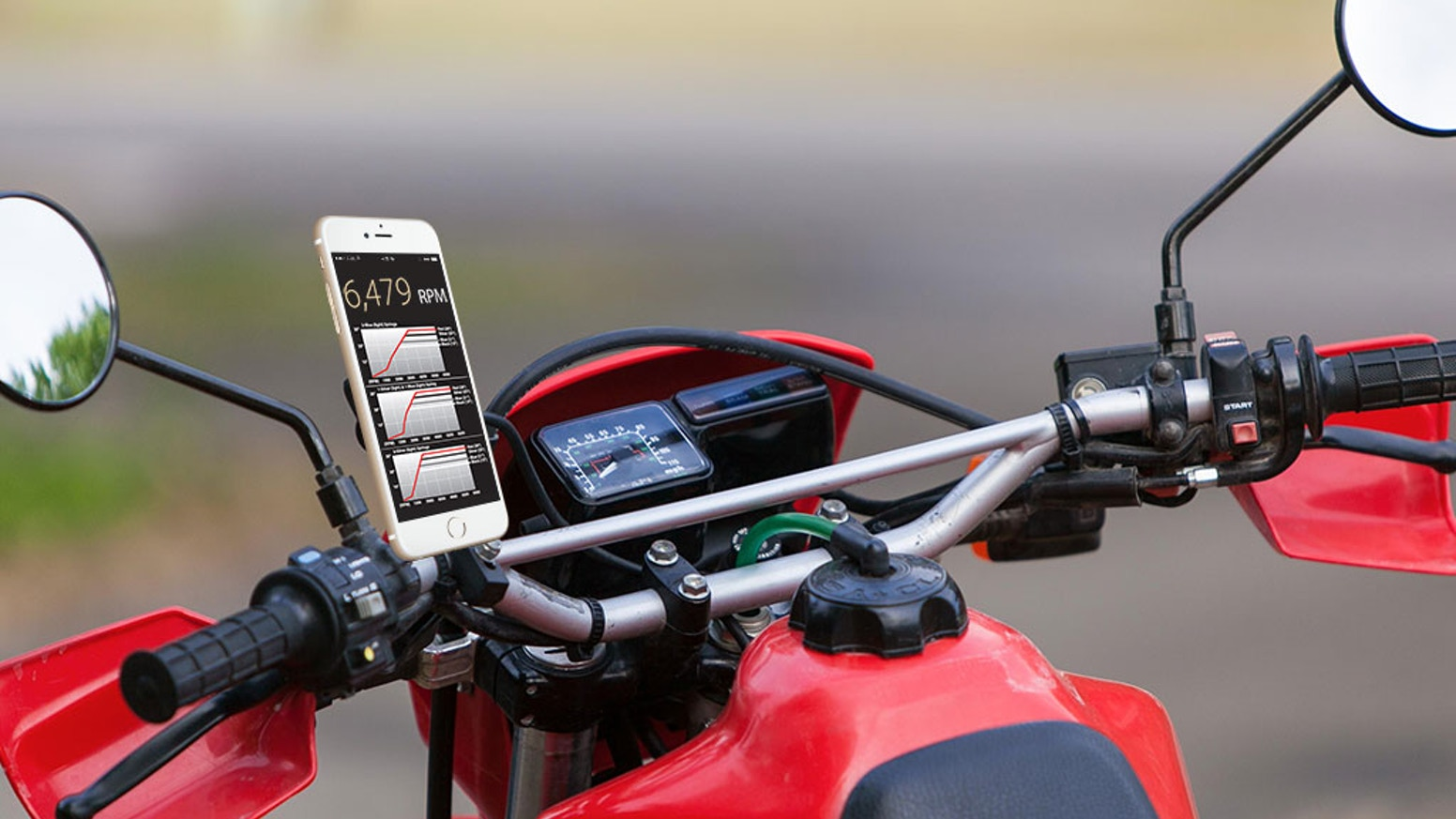 honda xr650l & xr650r cdis controlled via bluetooth ios & android apps   control ignition timing curve, adjust rpm limit, tachometer