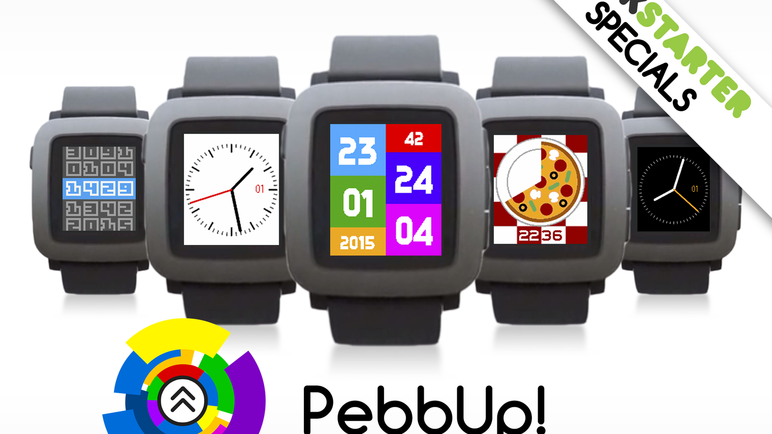 New colorful watchfaces for the new Pebble Time every month