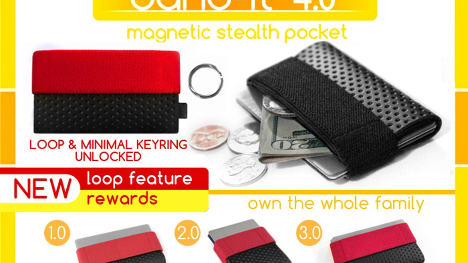 NEW REWARDS! Own the whole Band-it minimal wallet family!
