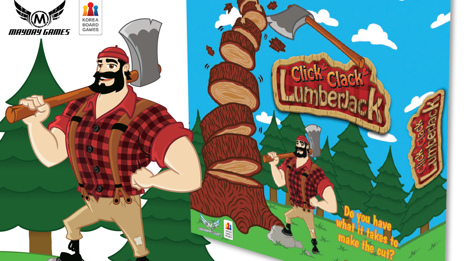 Click Clack Lumberjack is the latest in our Tree Dexterity line.  It includes all the best of Tok Tok Woodman and Bling Bling Gemstone!