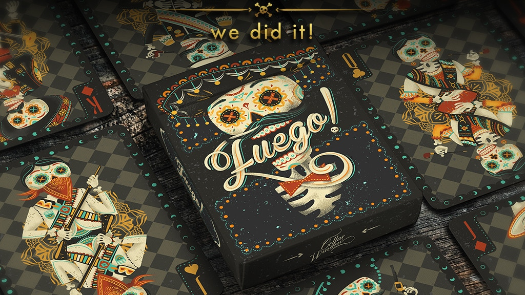 Fuego! - Day of the Dead Inspired Playing Cards project video thumbnail