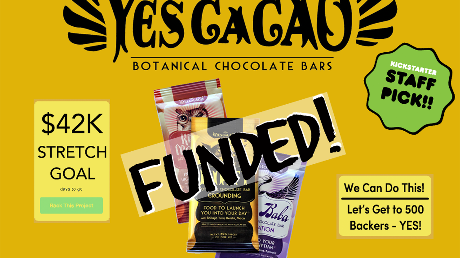 Food You Can Feel: Yes CaCao Botanical Chocolate as a delivery system for a daily dose of vibrant health. Make a Wish & Take a Bite.