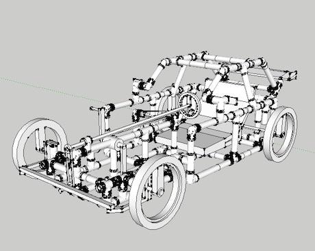 Recumbent PVC Pedal Car by Carlos —Kickstarter