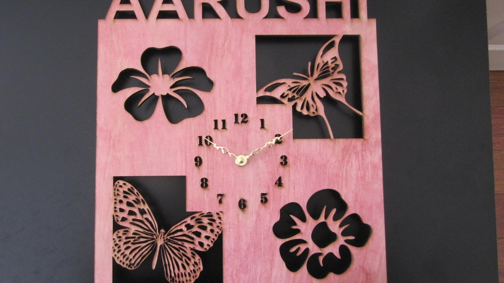 Personalized Wood Wall Clock By Bharti Gupta Kickstarter