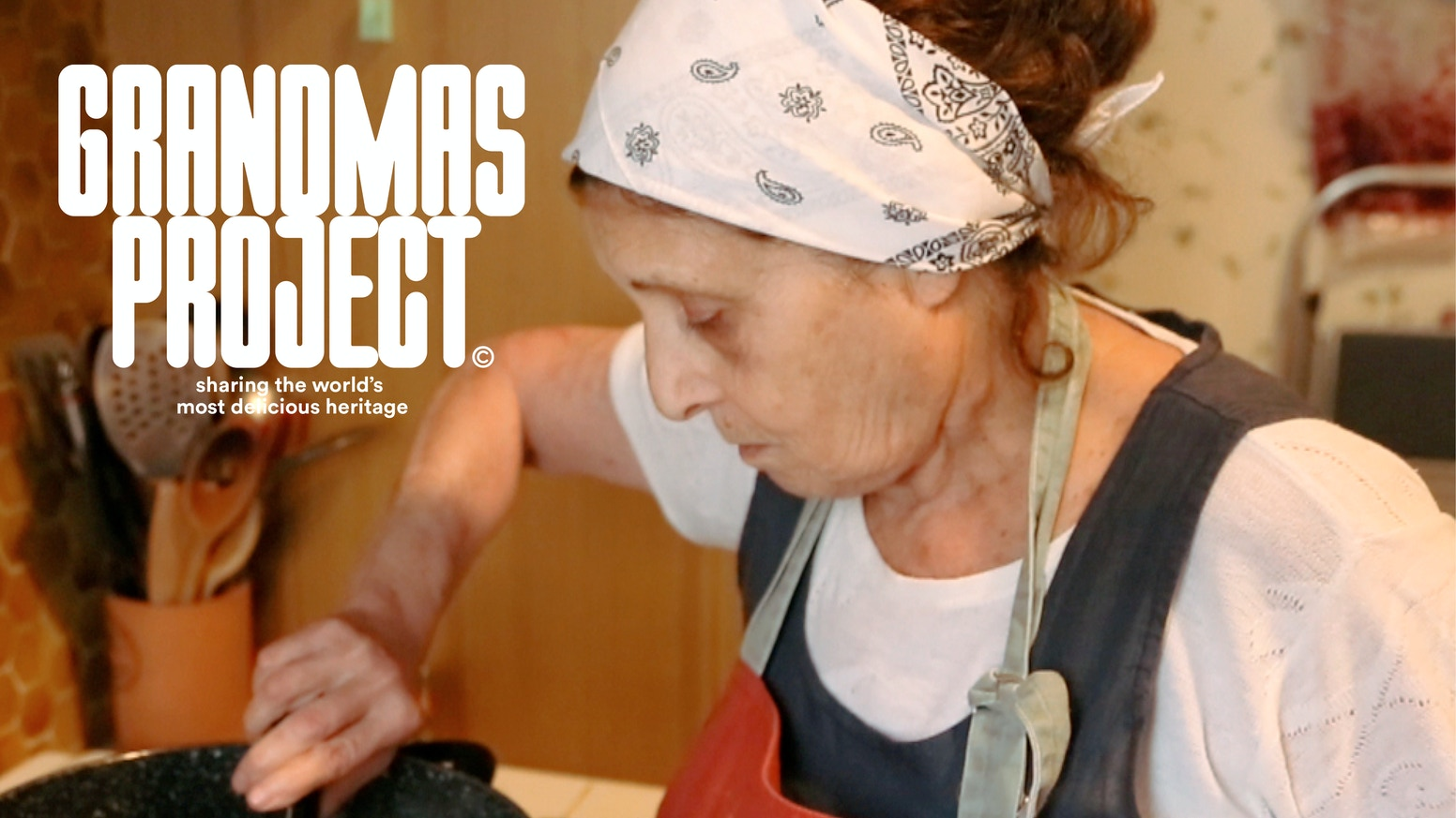 Recipes and stories from grandmas around the world, filmed by their grandchildren.