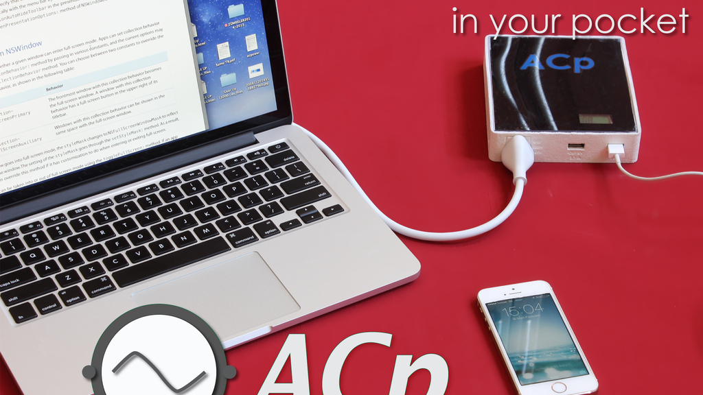 ACp : Your AC outlet and DC power bank in your pocket. project video thumbnail