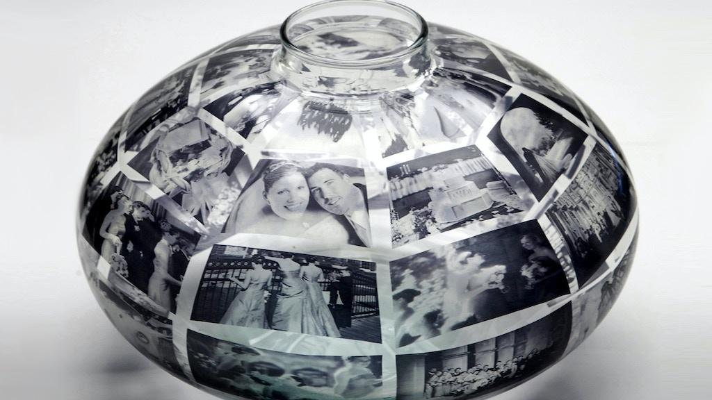 Memory Vase Your Photos On A Custom Handmade Glass Vase By Jenny
