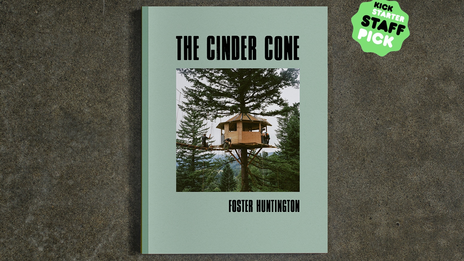 The Cinder Cone Build Book documents the process of building the two tree houses and a bowl from inception to the final result.
