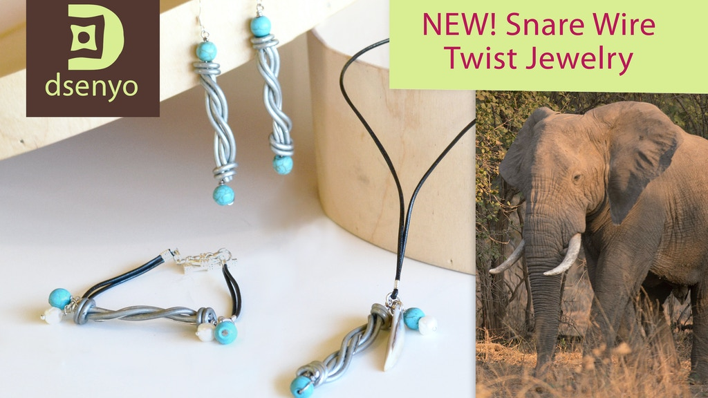 Snare Wire Jewelry - Conserving African Wildlife - Dsenyo project video thumbnail