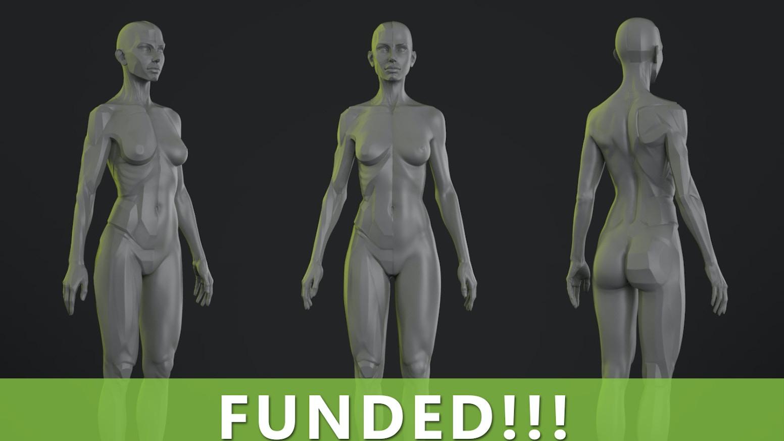 The Female Planar Statue By David Richardson Kickstarter