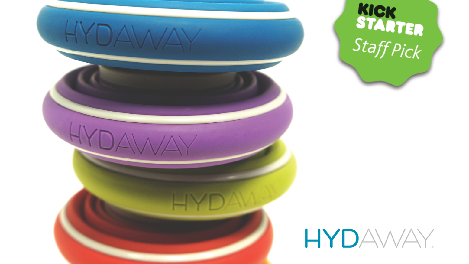 HYDAWAY is a handy alternative to disposable plastic water bottles - it folds down easily to fit in almost any pocket!