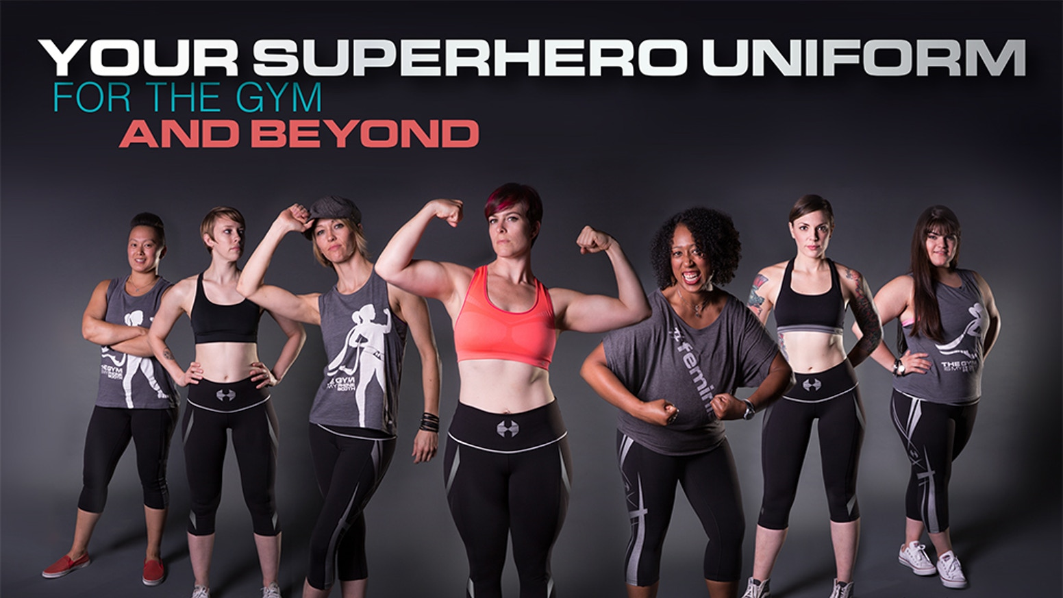 Designed to make you feel supported and confident in the gym and beyond. For women sizes XS-3XL. Unleash your superpower!
