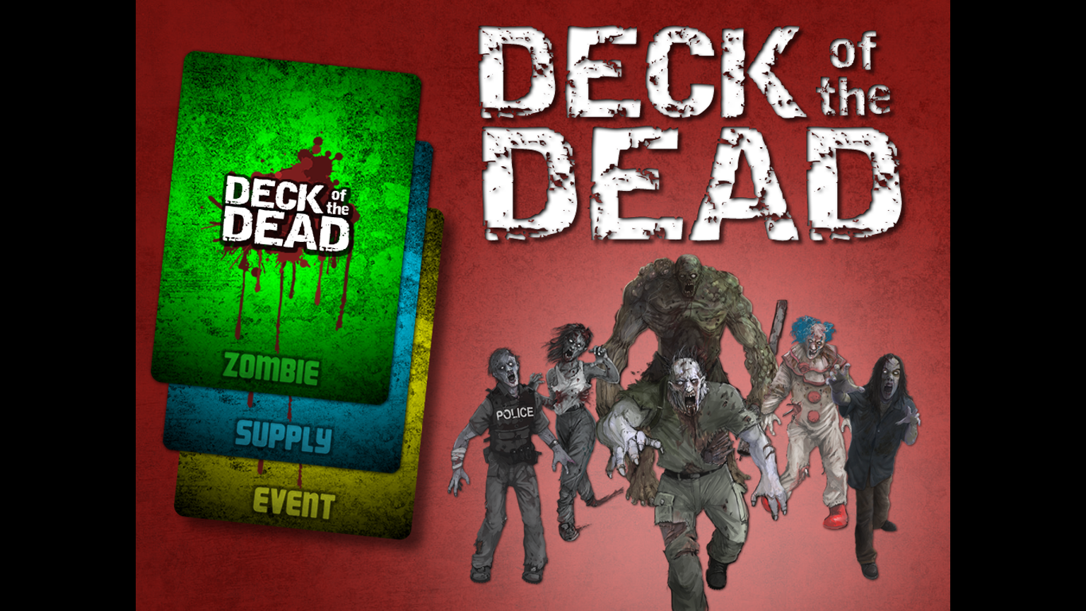 Deck of the dead zombie card game canceled by marshall for Zombie balcony