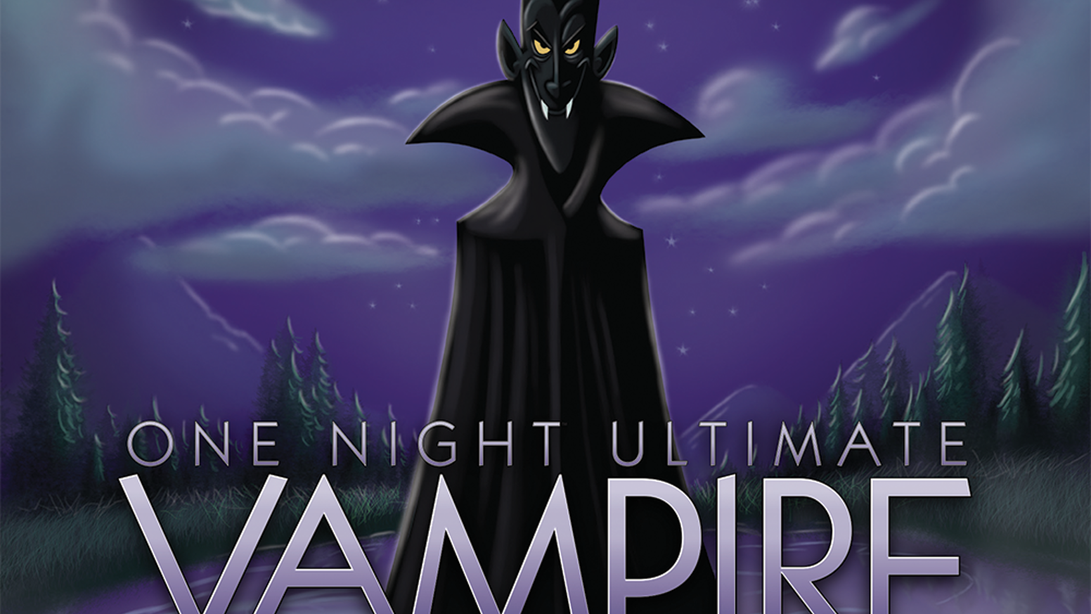 A prequel to One Night Ultimate Werewolf w/ Vampires, Assassins and more. 14 new roles. Stand alone or mix with other One Night games.